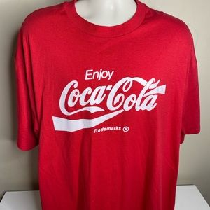 Vintage enjoy coca-cola t shirt men's size 2XL red